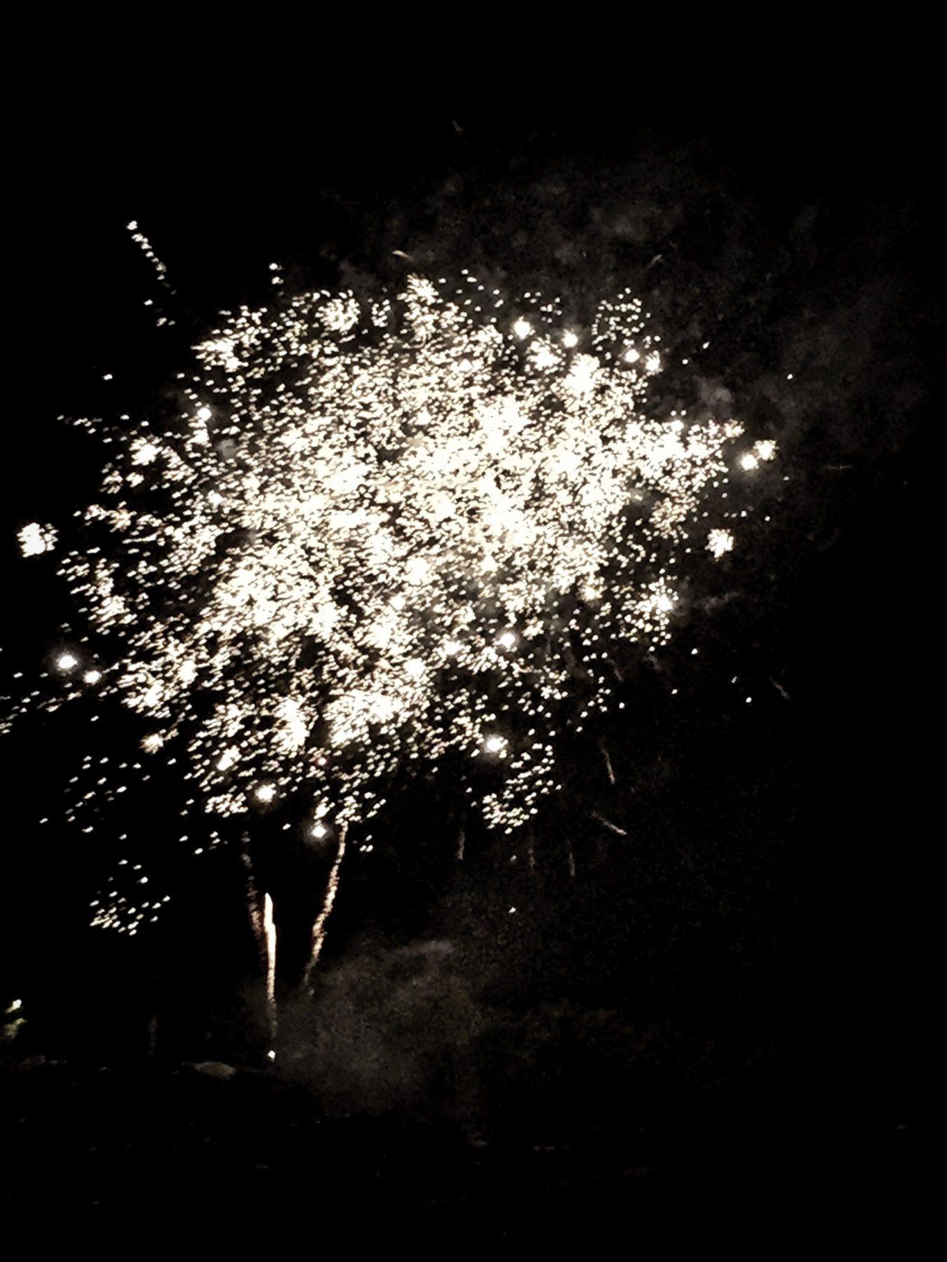 Das obligatorische Feuerwerk durfte natürlich nicht fehlen.
