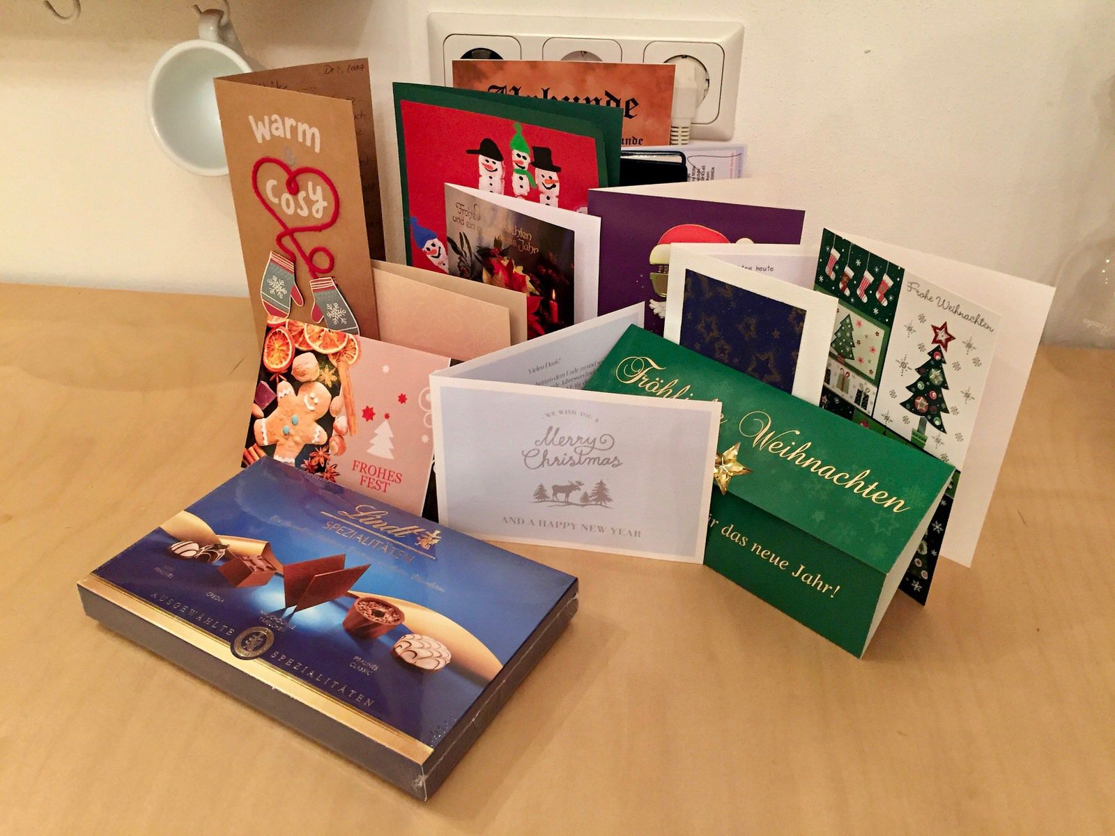 Vielen lieben Dank für deine Weihnachtsgrüße. Wir haben uns sehr gefreut!