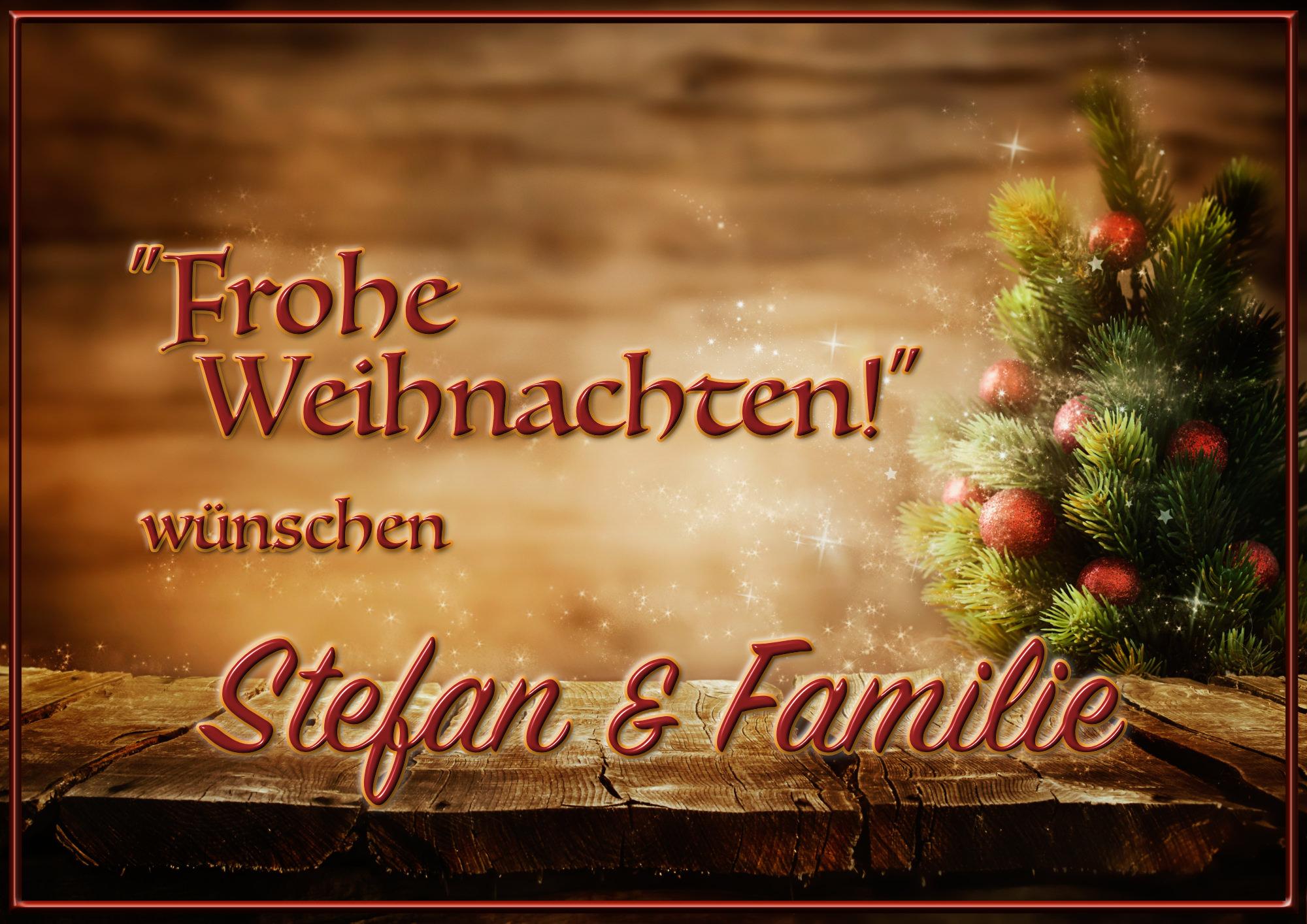 Stefan & seine Familie sowie das Team von ELFS wünschen Euch allen eine frohes und besinnliches Weihnachtsfest!